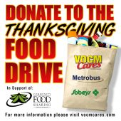 Donate to the Thanksgiving Food Drive - October 1-12